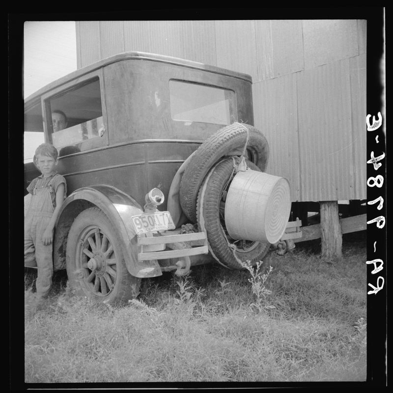 Migrant family's car near Brownsville, Texas