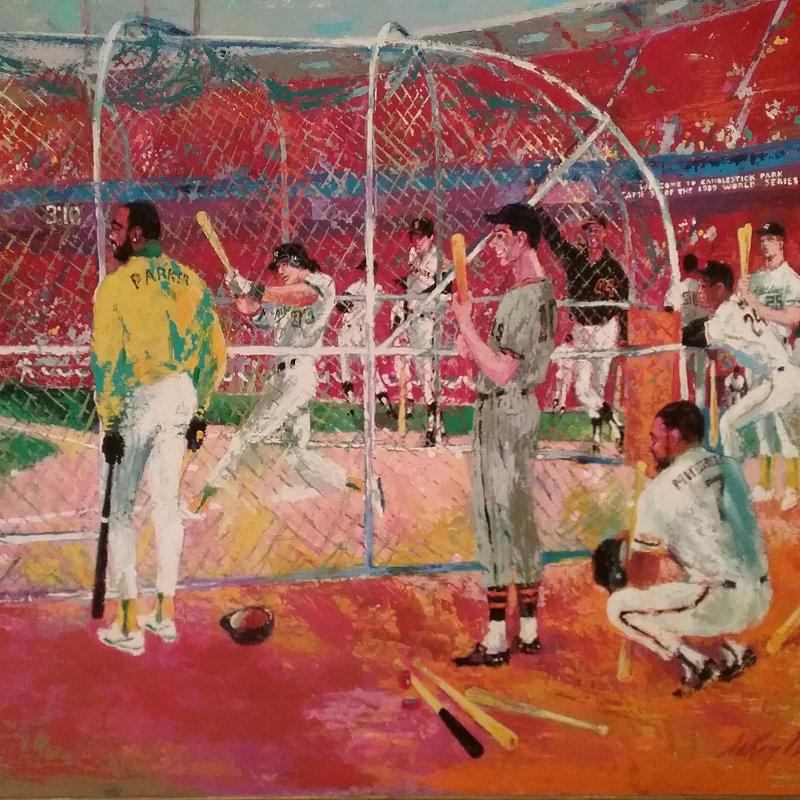 Leroy Neiman Baseball painting
