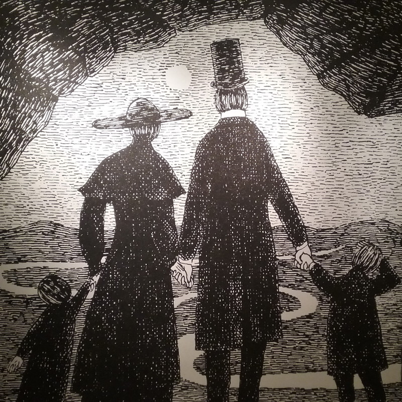 Photograph of an illustration by Edward Gorey