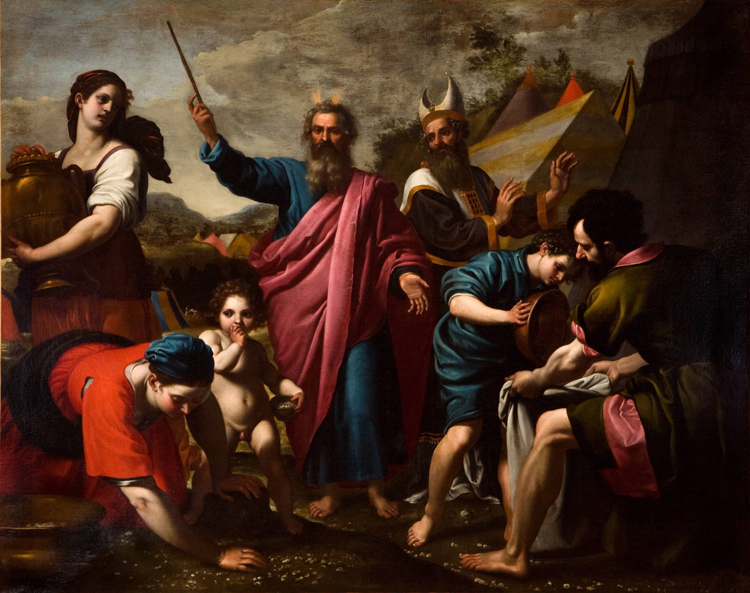 The Gathering of Manna by Ottavio Vannini
