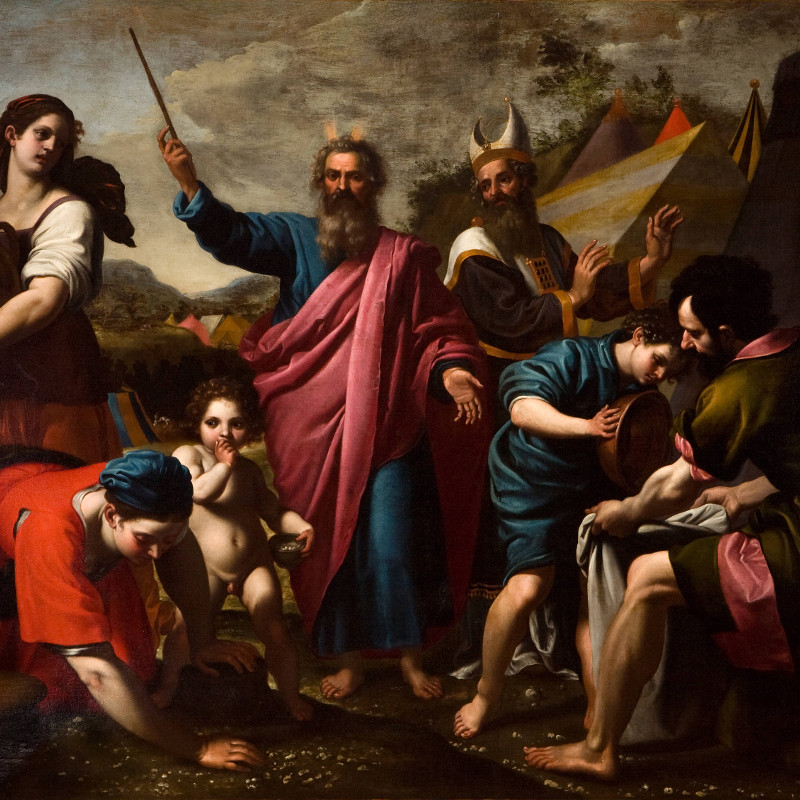 The Gathering of Manna by Ottavio Vannini