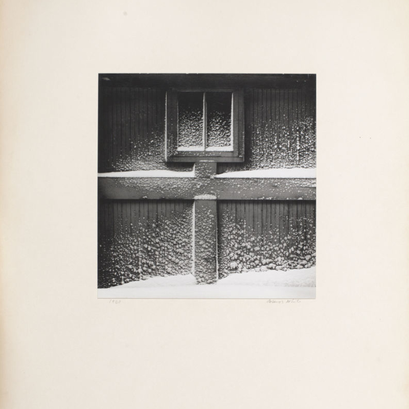 Garage Door (Haags Alley, Rochester) by Minor White 1960