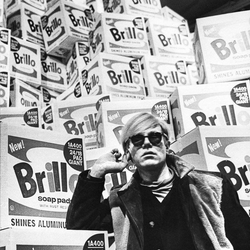 Andy Warhol and Brillo boxes