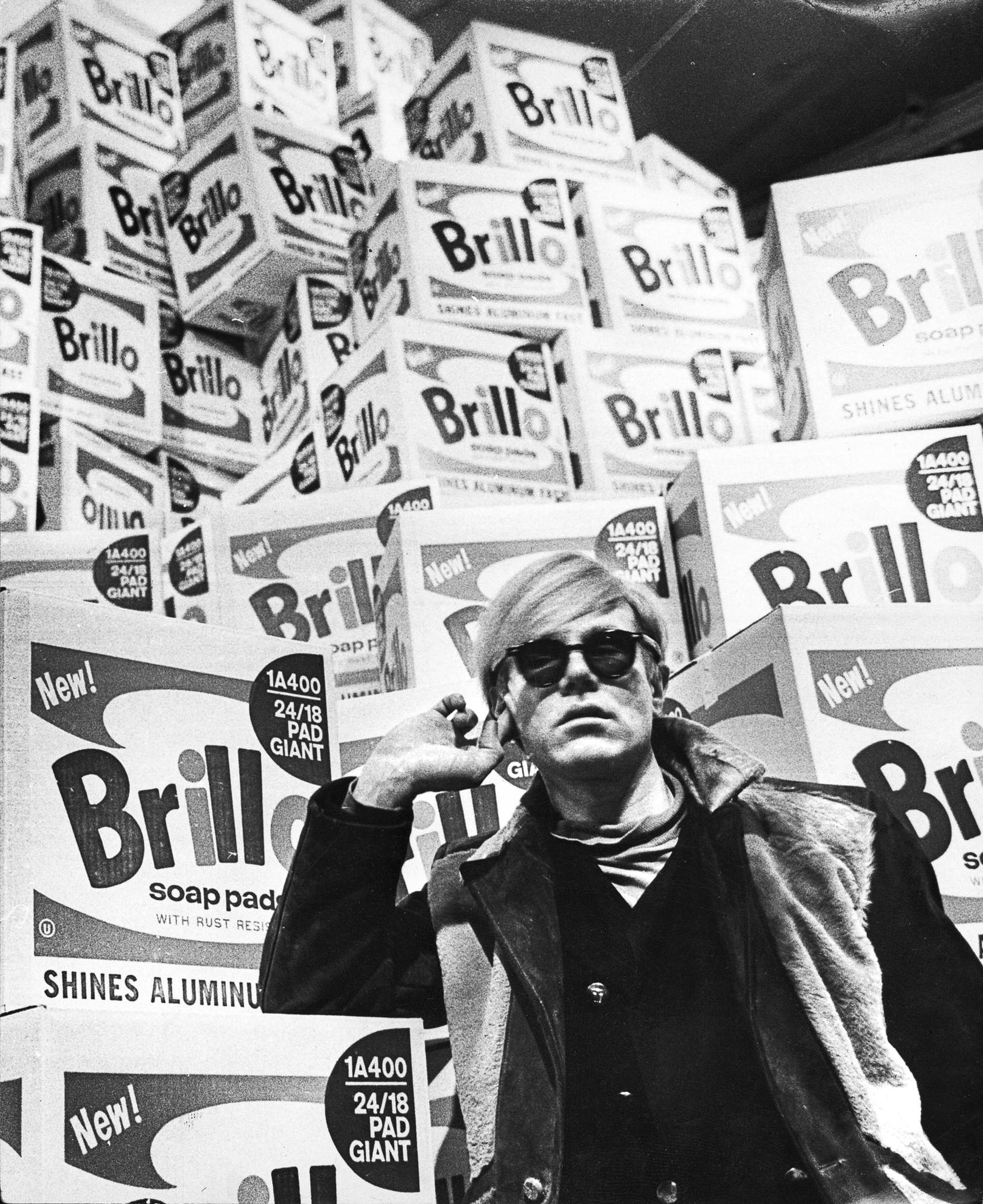 Andy Warhol and Brillo boxes