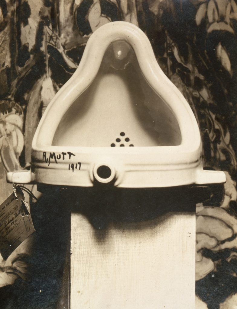 Fountain by Marcel Duchamp photographed by Alfred Stieglitz in 1917